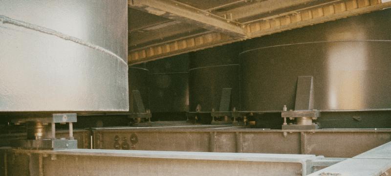 опора бункера на тензодатчике мембранного типа