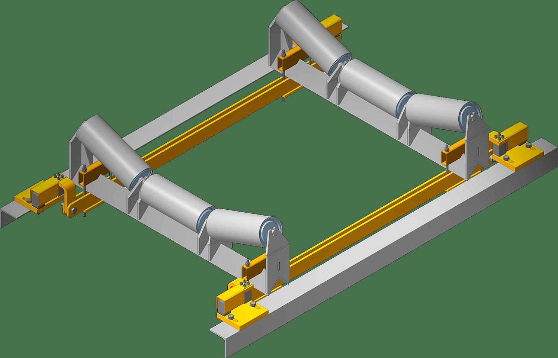 3д модель конвейерных весов на двух роликоопорах