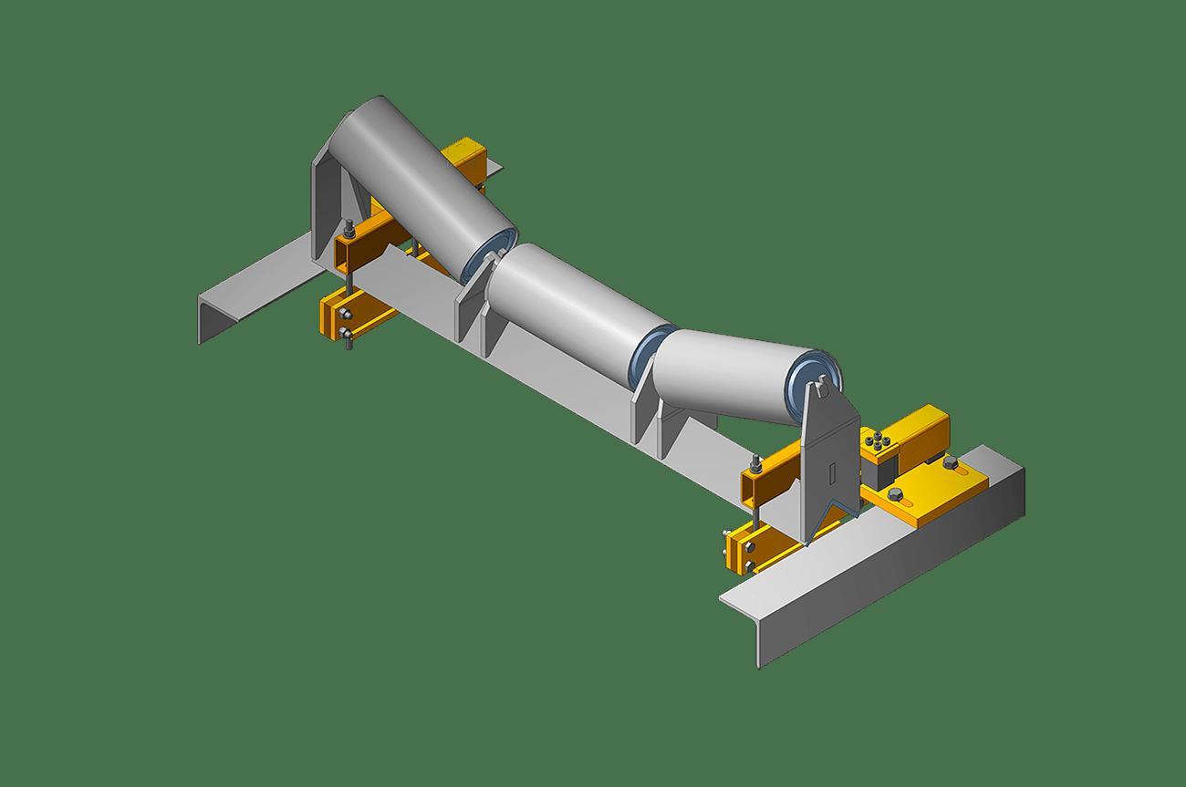 3д модель конвейерных весов на одной роликоопоре